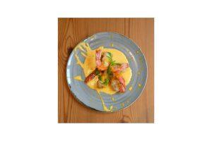Prawn tempura in curry sauce. Restaurant Espada, Lisbon