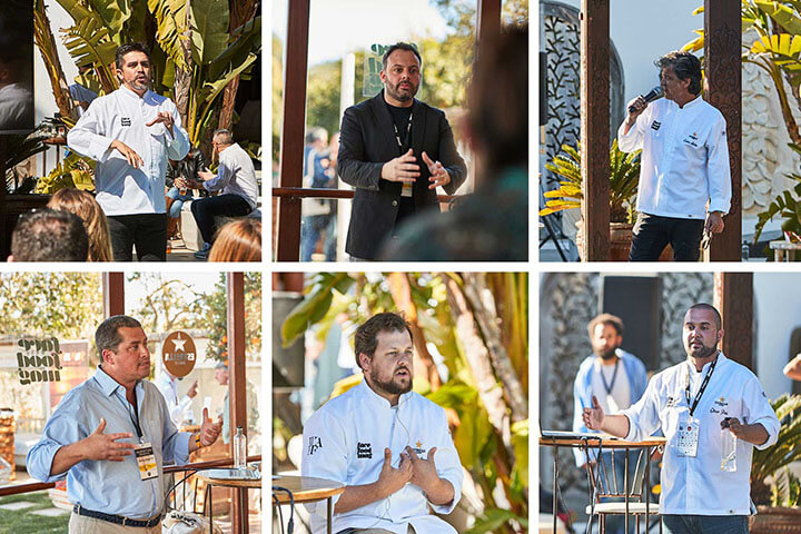 Ponentes We Are FaceFood Ibiza 2019: Roberto Ruiz, Xavi Alba, Carles Abellán, Borja Beneyto, João Rodrigues y Oliver Peña