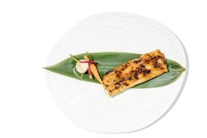 Tamal de berenjenas. Restaurante Sa Brisa
