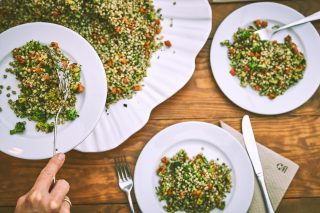 Buckwheat with baby vegetables recipe. Eat is life
