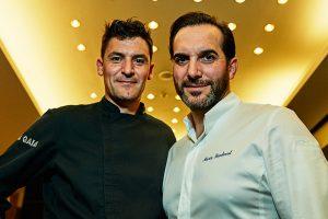 Chef Mario Sandoval y Óscar Molina en el restaurante La Gaia, Ibiza