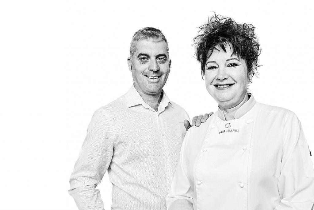 Santiago and Antonia. Restaurant Es Caló, Formentera