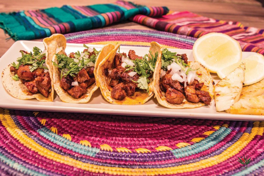 Tacos al pastor. Restaurante Gave Mx
