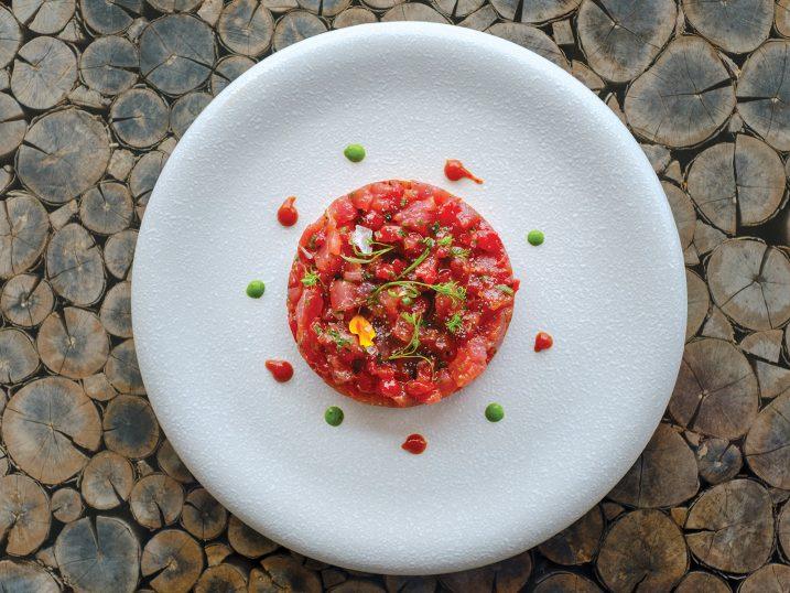 Tuna tartare. Restaurant Amante Ibiza