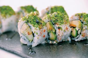 Uramaki vegetal. Restaurante KOKOY by Hideki Matsuhisa, Formentera
