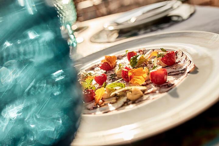 Carpaccio de pulpo. Restaurante A Mi Manera, Formentera