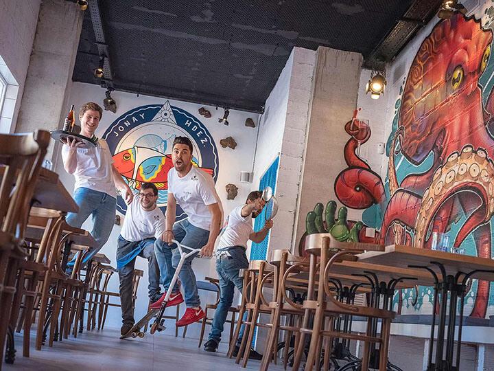 Equipo restaurante La Vieja, Mallorca