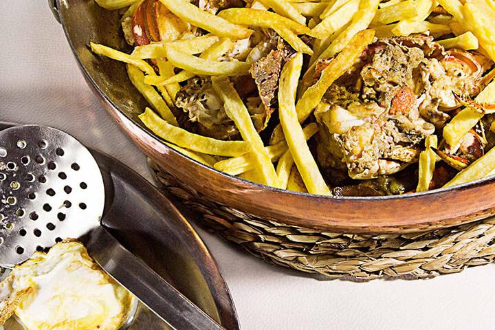 Frita de Langosta al estilo de Formentera. La Barra de Carles Abellán