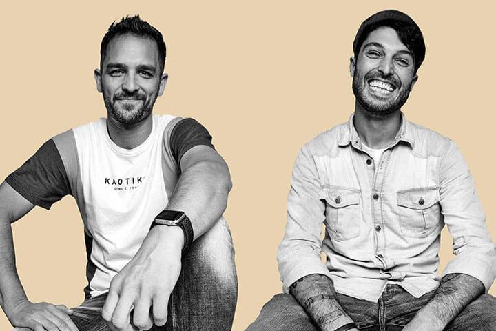 Jeremías Monti y Juan Olmos propietarios de Es Mercat. Ibiza