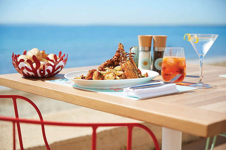 Langosta al ajillo. Restaurante Seahorse, Ibiza
