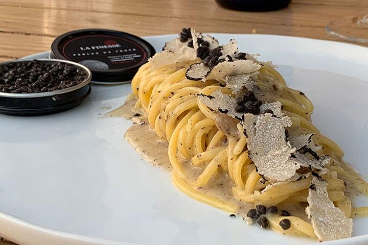 Pasta con trufa. Restaurante Bocachula