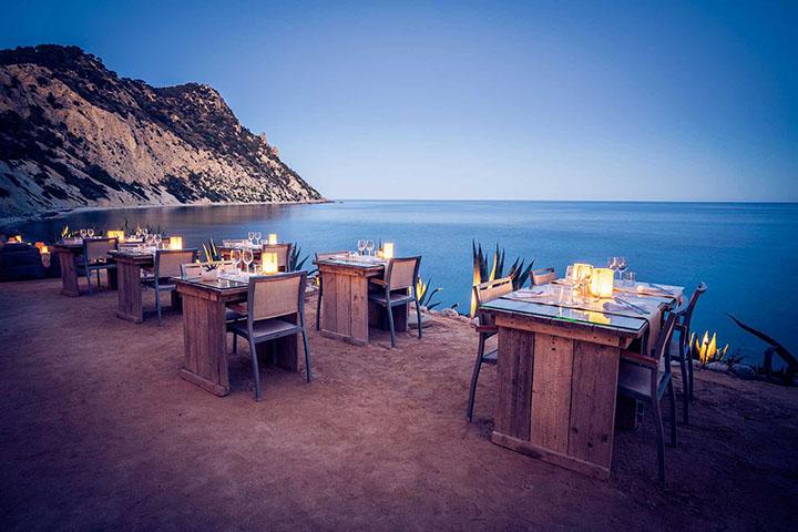Vistas al mar desde el restaurante Amante Ibiza