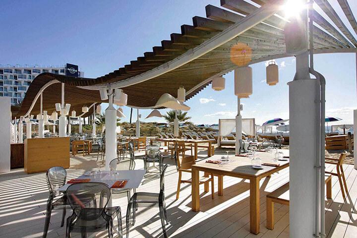 The Beach at Hard Rock Hotel Ibiza. The best Beach Clubs in Ibiza