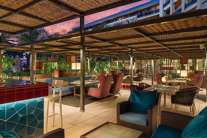 Alabastro restaurant. Hotel Aguas Ibiza