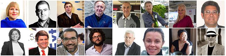Los ponentes del II Congreso Internacional de Periodistas Gastronómicos.