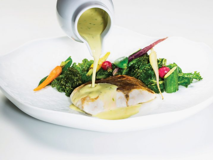 Sea bass with french sauce