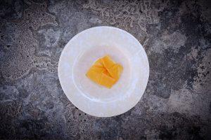 Apricot, almond and coal. Restaurnat Loco, Lisbon