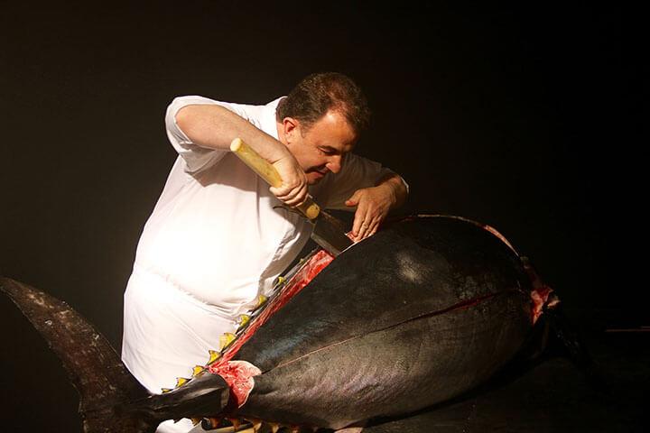 Martín Berasategui. Ronqueo de atún Balfegó