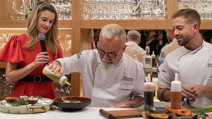 Miguel Ángel López Campoy chef del restaurante Hostal La Torre y Víctor Sánchez, chef del restaurante Villa Mercedes