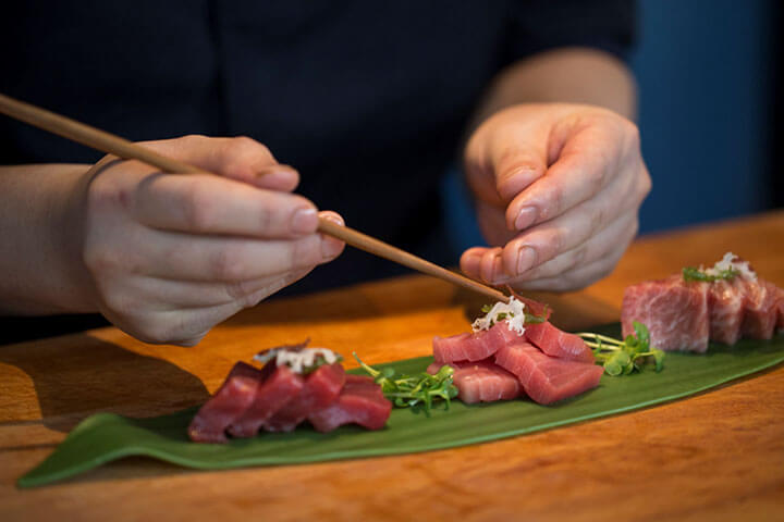Sashimi de atum. Balfegó