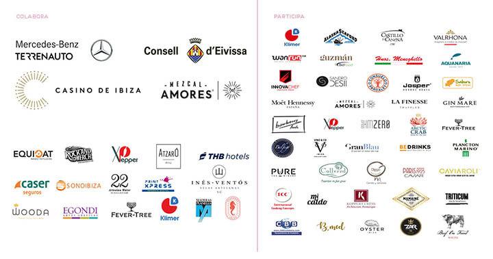 Logos de empresas colaboradoras y participantes en We Are Facefood Ibiza 2020