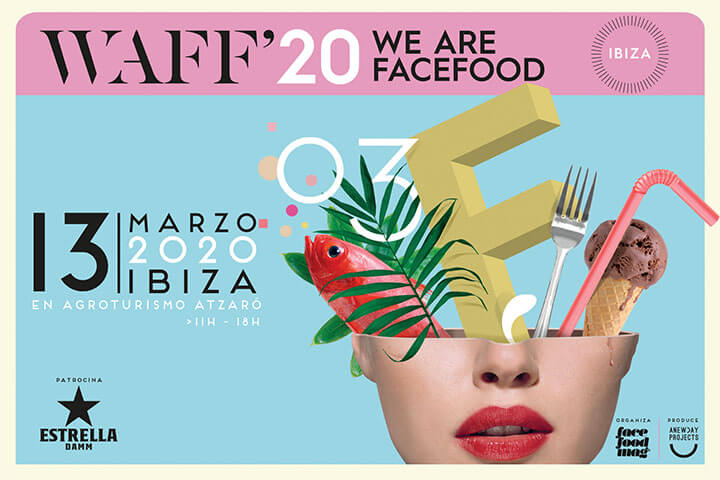Cartel presentación We Are Facefood Ibiza 2020