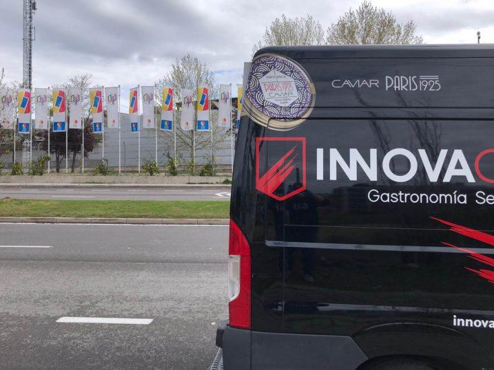 Furgón de Innovachef para abastecer al hospital de campaña en IFEMA