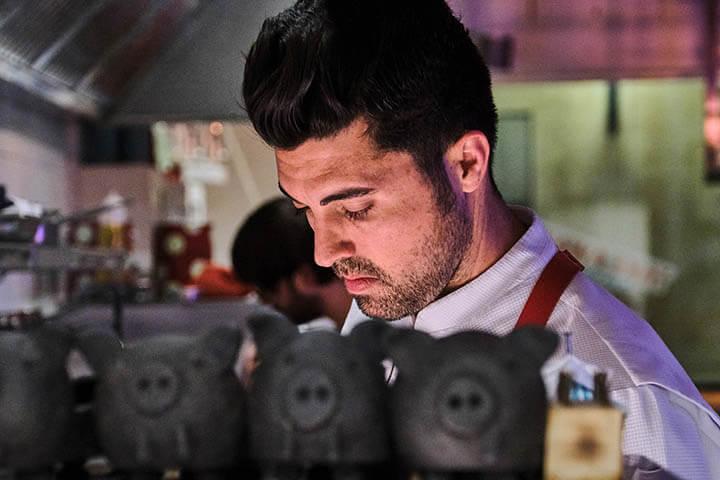 Chef Jonay Hernández. Restaurante La Vieja, Palma de Mallorca