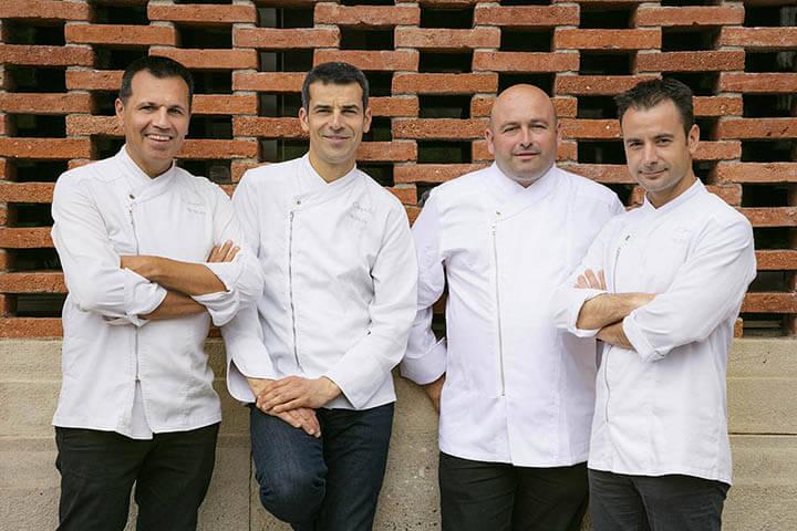 Oriol Castro, Mateu Casañas, Jordi Parra y Eduard Xatruch
