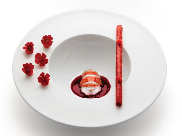 Bogavante en textura. Restaurante Eneko Lisboa