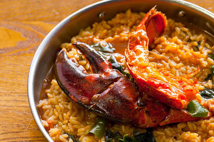Lobster rice and seaweed. Seame Group. Lisbon